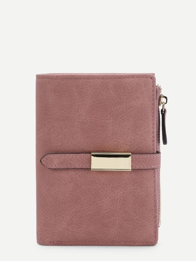 Metal Detail PU Wallet