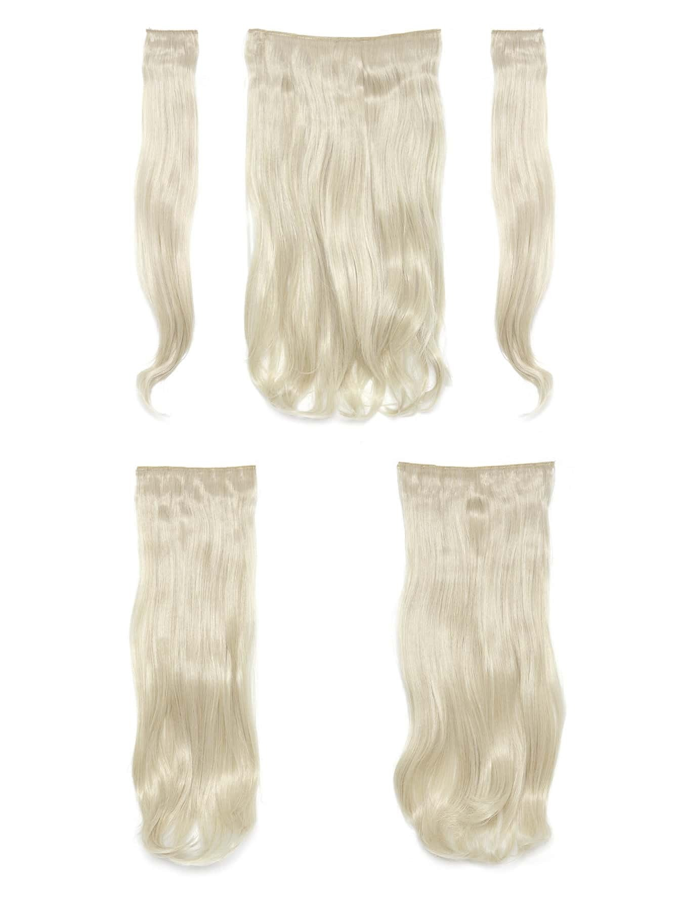 Pure Blonde  Clip In Soft Wave Hair Extension 5pcs light blonde clip in soft wave hair extension 5pcs