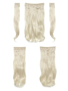 Pure Blonde  Clip In Soft Wave Hair Extension 5pcs