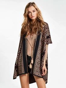 Tribal Knit Shawl Cardigan