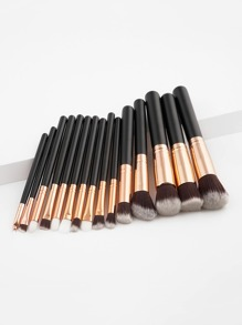 Two Tone Handle Makeup Brush Set 15pcs