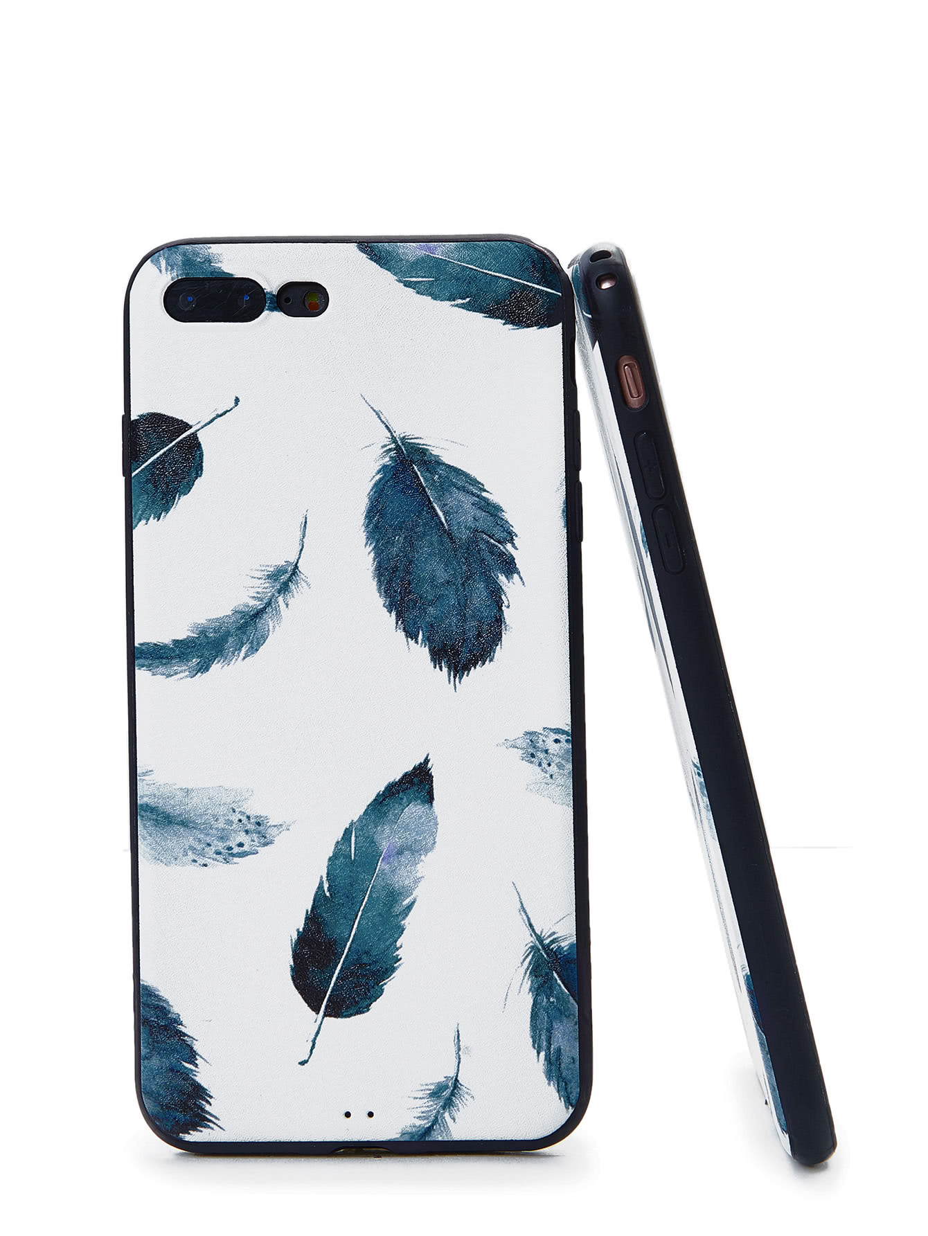 Feather Print iPhone Case planet print iphone case