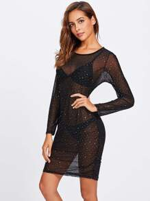 Transparent Dot Mesh Dress