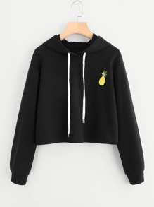 Pineapple Embroidered Hoodie