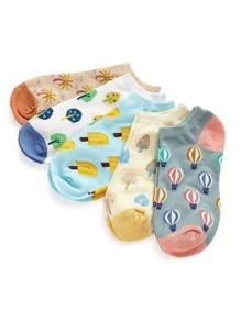 5 pares de calcetines con dibujos