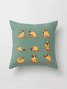 Pug Print Pillowcase Cover