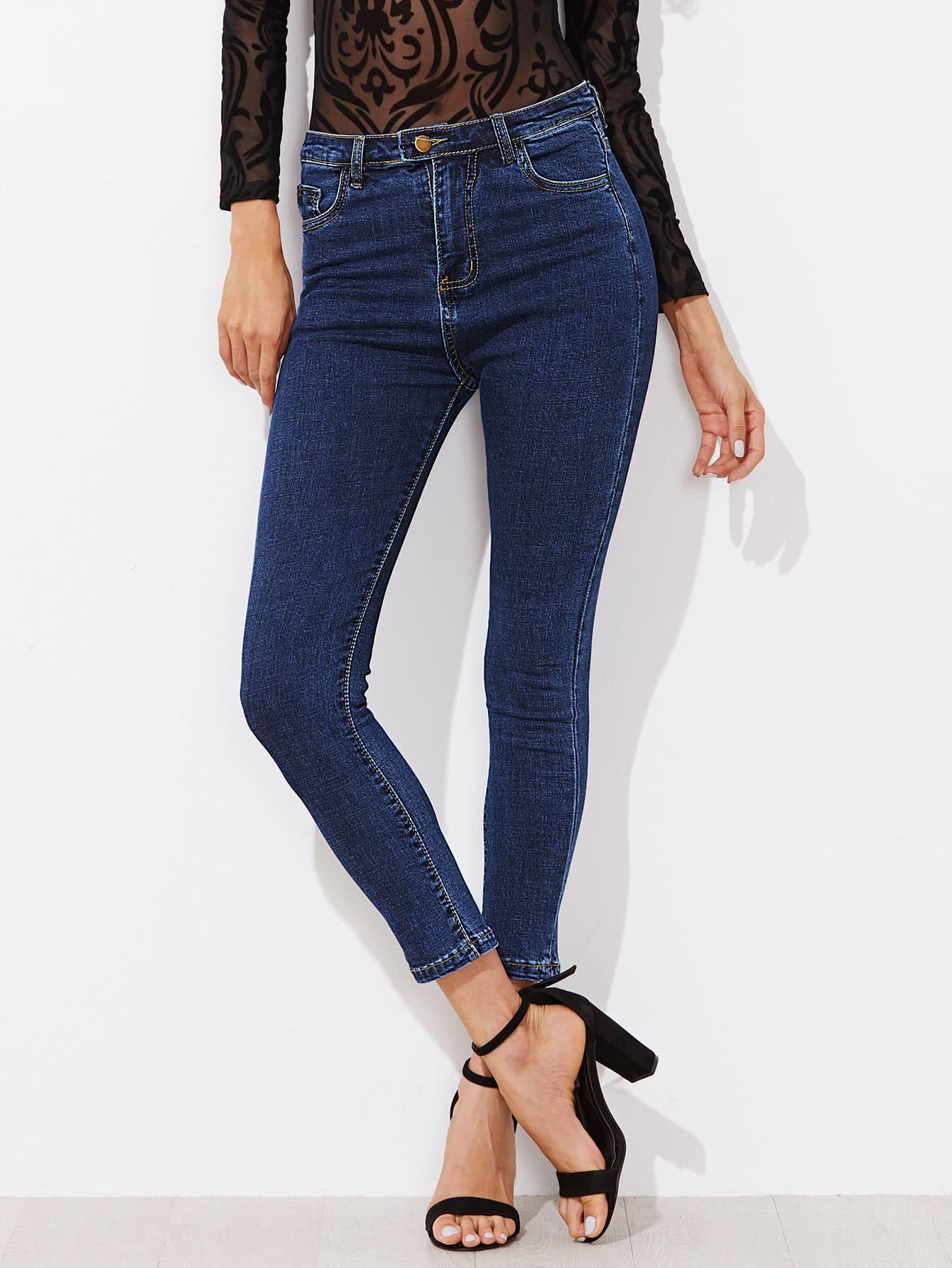 Dark Blue Skinny Jeans napapijri guji check dark blue