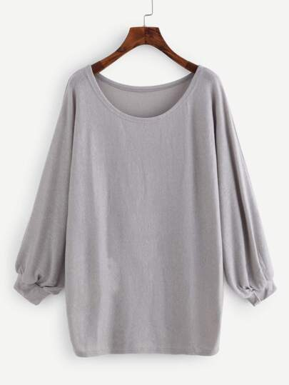 Lantern Sleeve Oversized Top