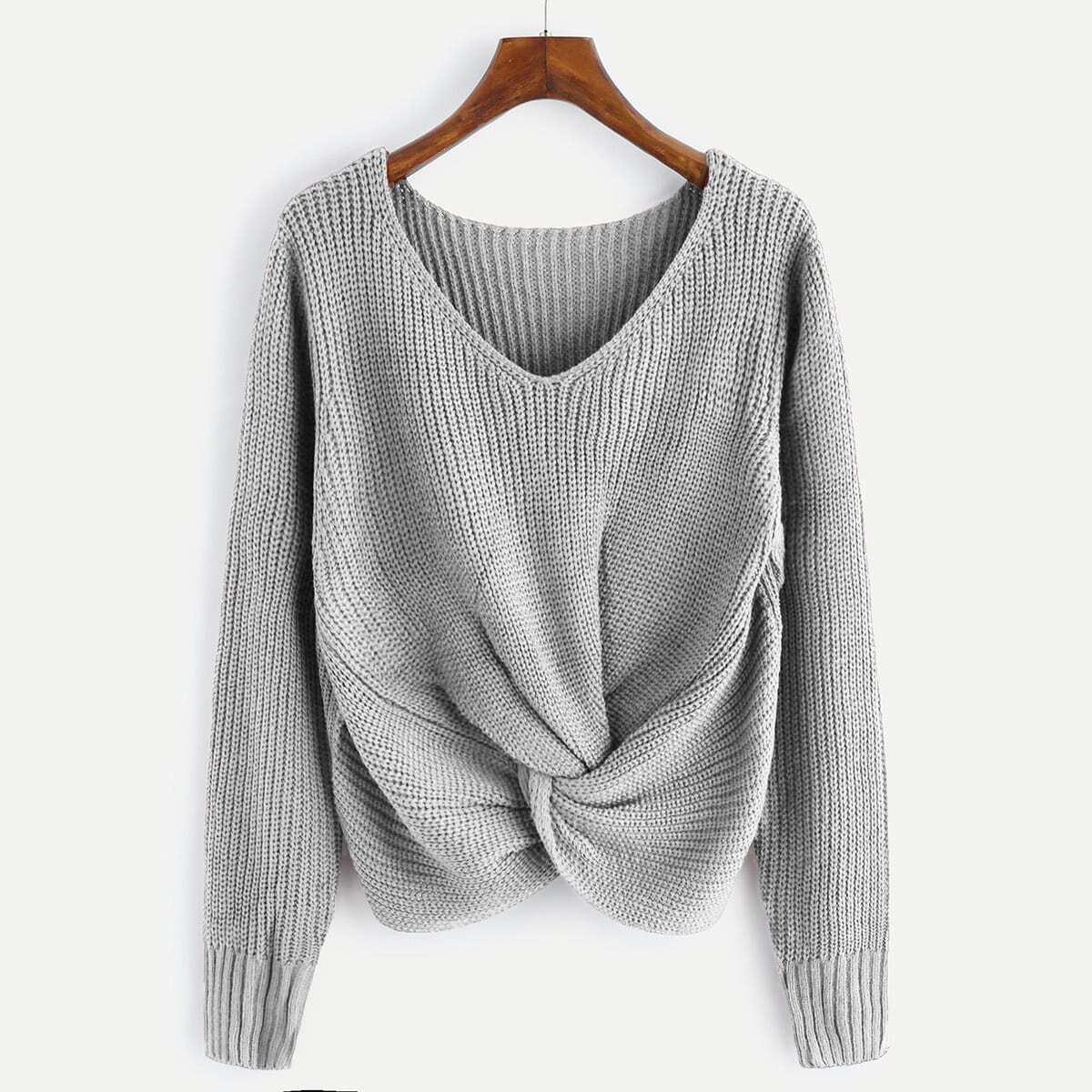 V-hals sweater met twist