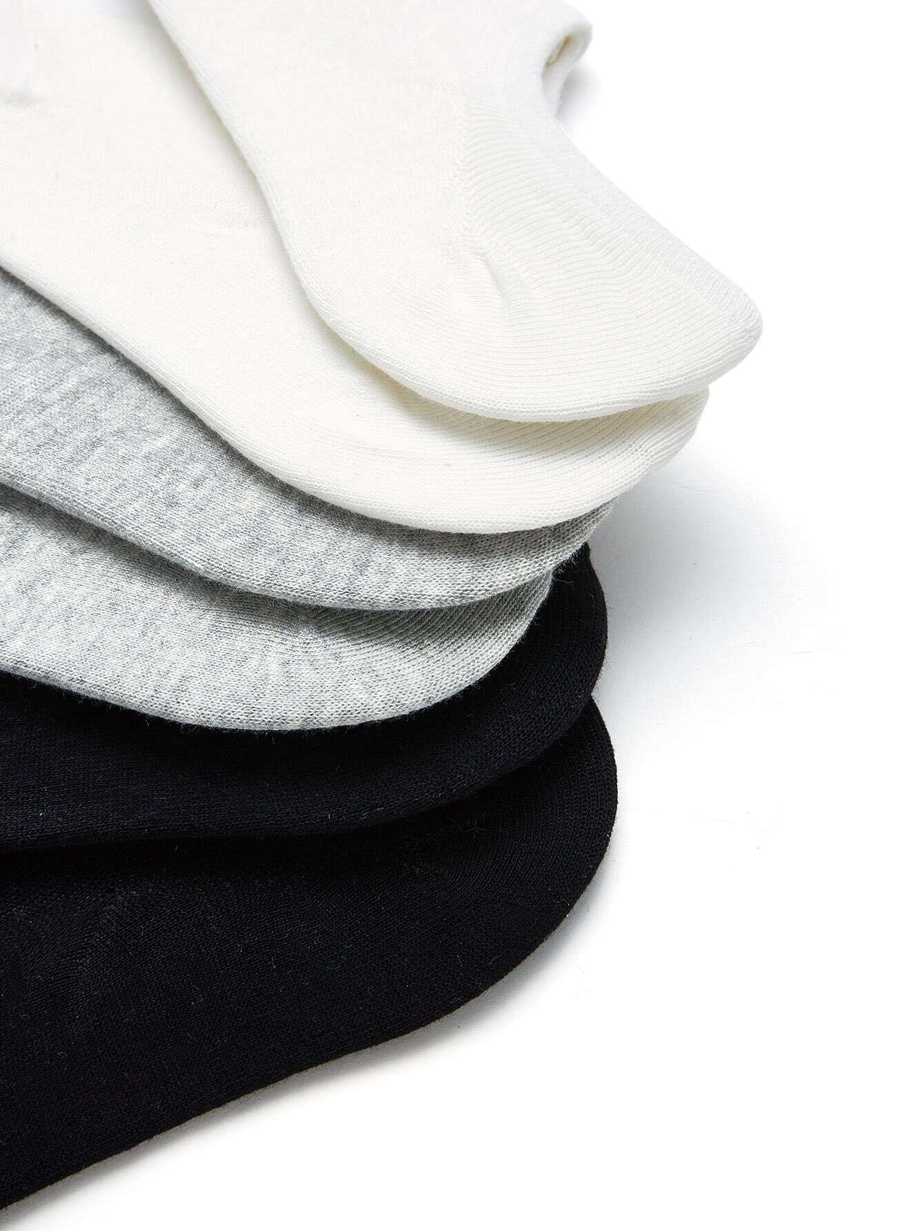 Plain Invisible Socks 6pairs