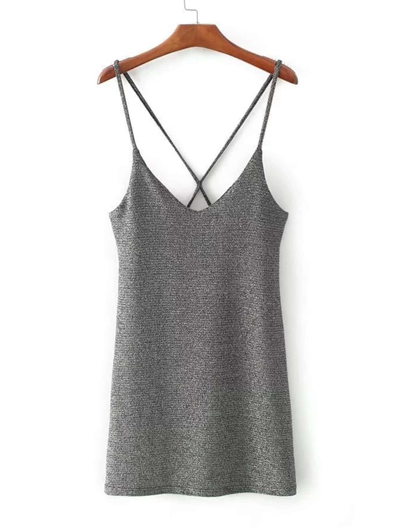 Cross Back Cami Dress rdre170926201