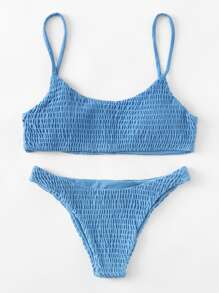 Shirred Bikini Set