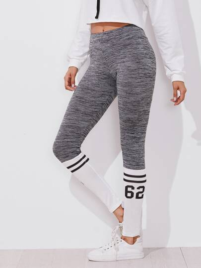 Varsity Print Space Dye Leggings