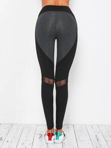 Contrast Paneled Gym Leggings