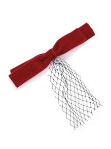 Bow Design Mesh Detail Hair Clip