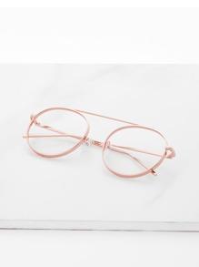Top Bar Metal Frame Glasses