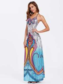 Ornate Print Cami Dress pictures