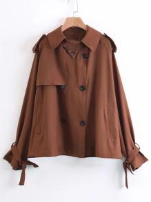 Tie Cuff Short Trench Coat