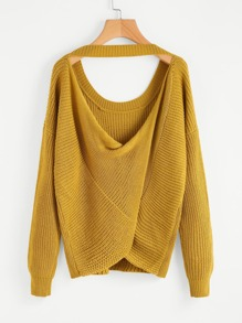 Twist Open Back Sweater