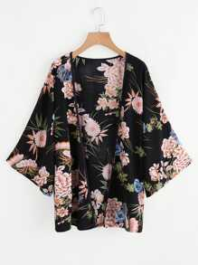 Kimono con estampado botánico