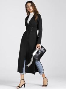 Cappotto con cintura stile corsetto