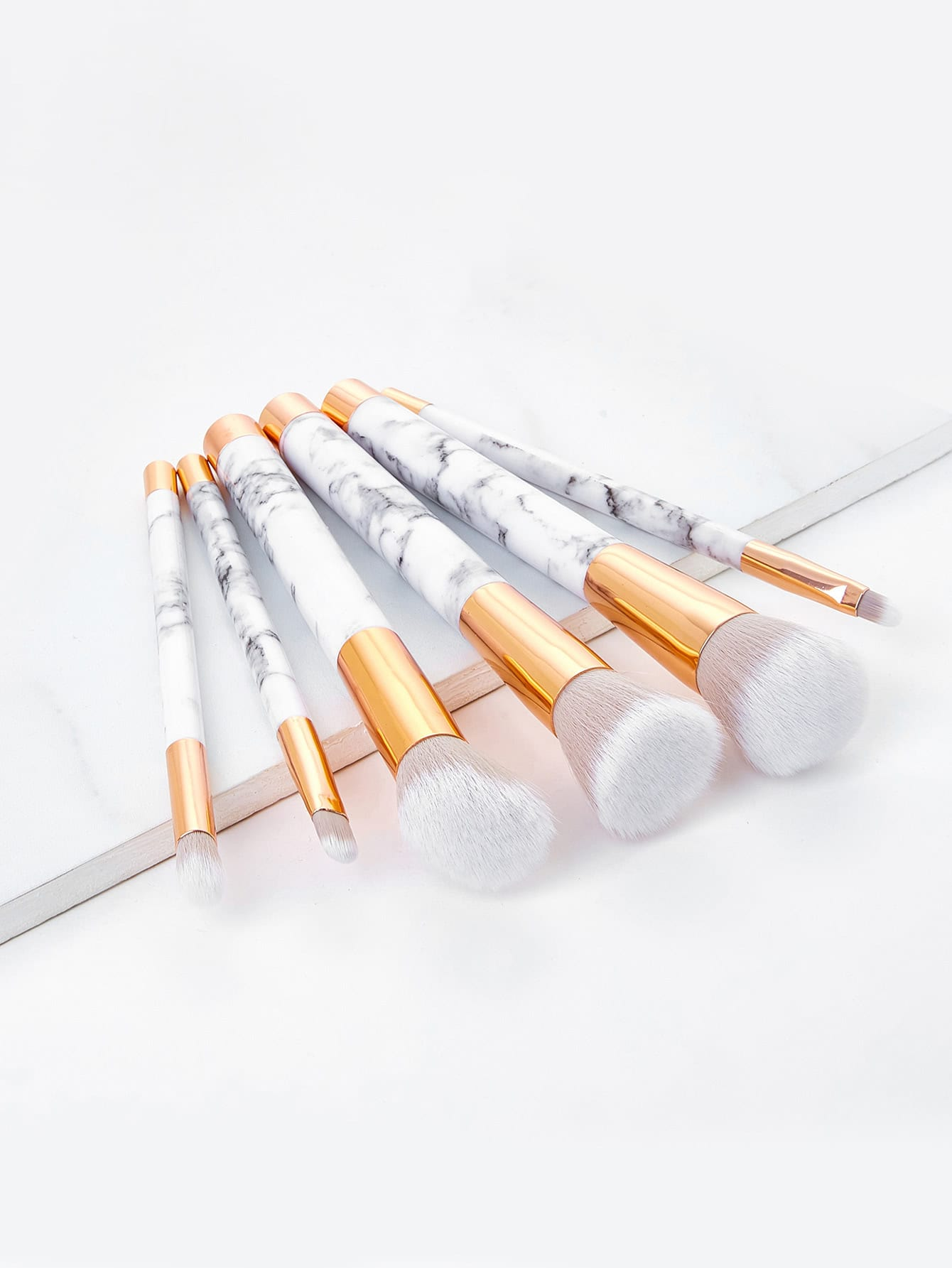 Marble Pattern Handle Brush Set 6pcs
