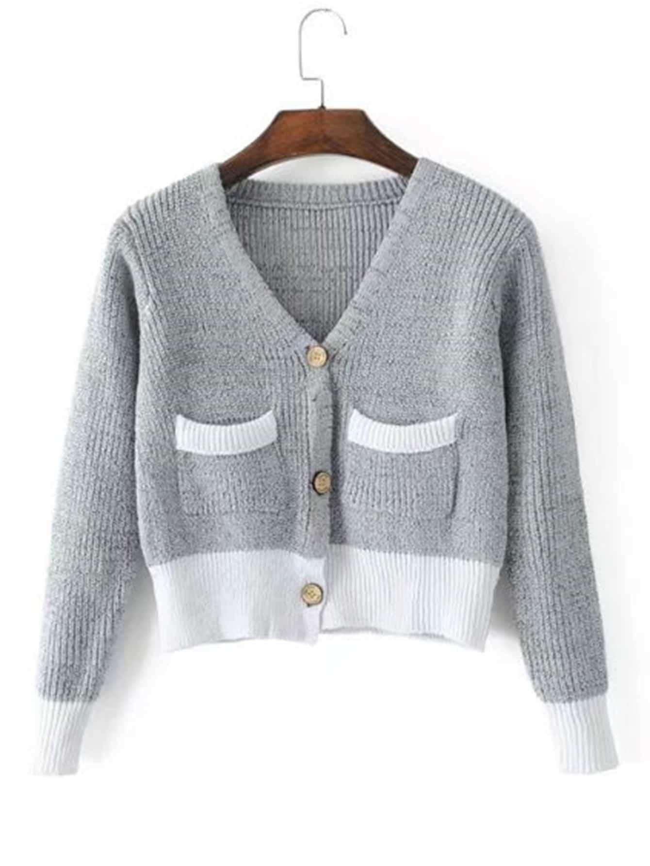 Ribbed Knit Crop Cardigan