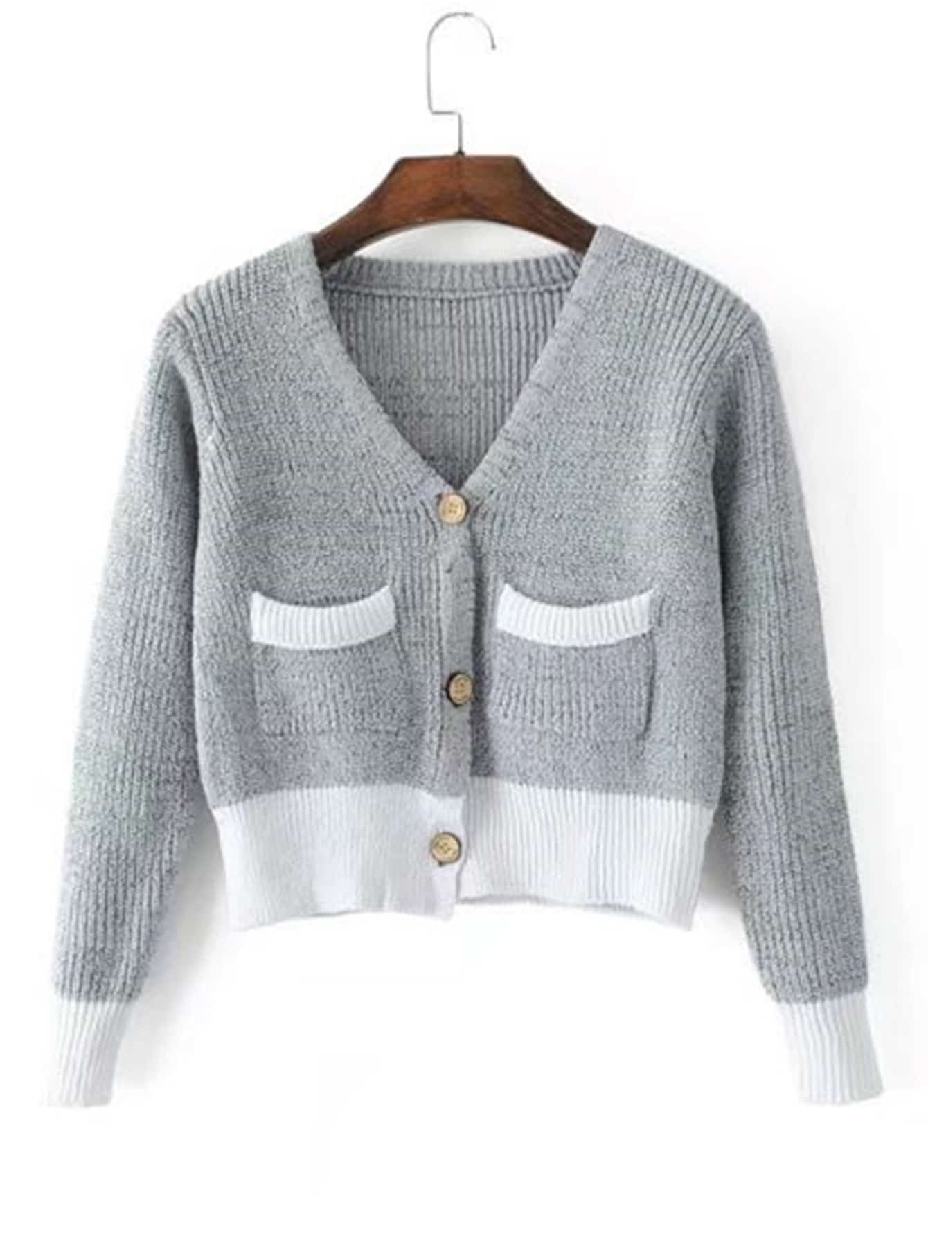 Ribbed Knit Crop Cardigan rkni170926204
