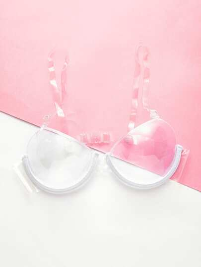 Adjustable Straps Clear Bra