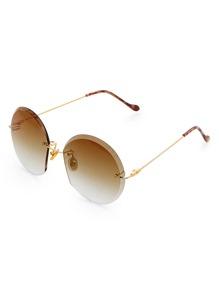 Metal Frame Rimless Sunglasses