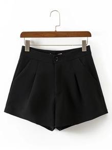 Shorts taille haute avec des plis
