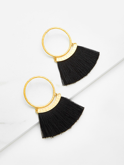 Fringe Design Drop Earrings