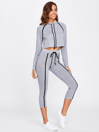 Ensemble de Top court avec manche raglan & Leggings