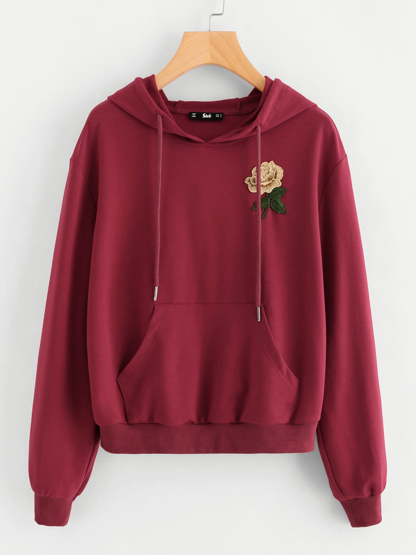 Kangaroo Pocket Front Hoodie hollow out pocket front hoodie
