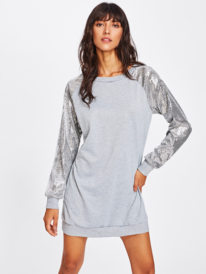 Sweat-shirt Robe avec manche bicolore