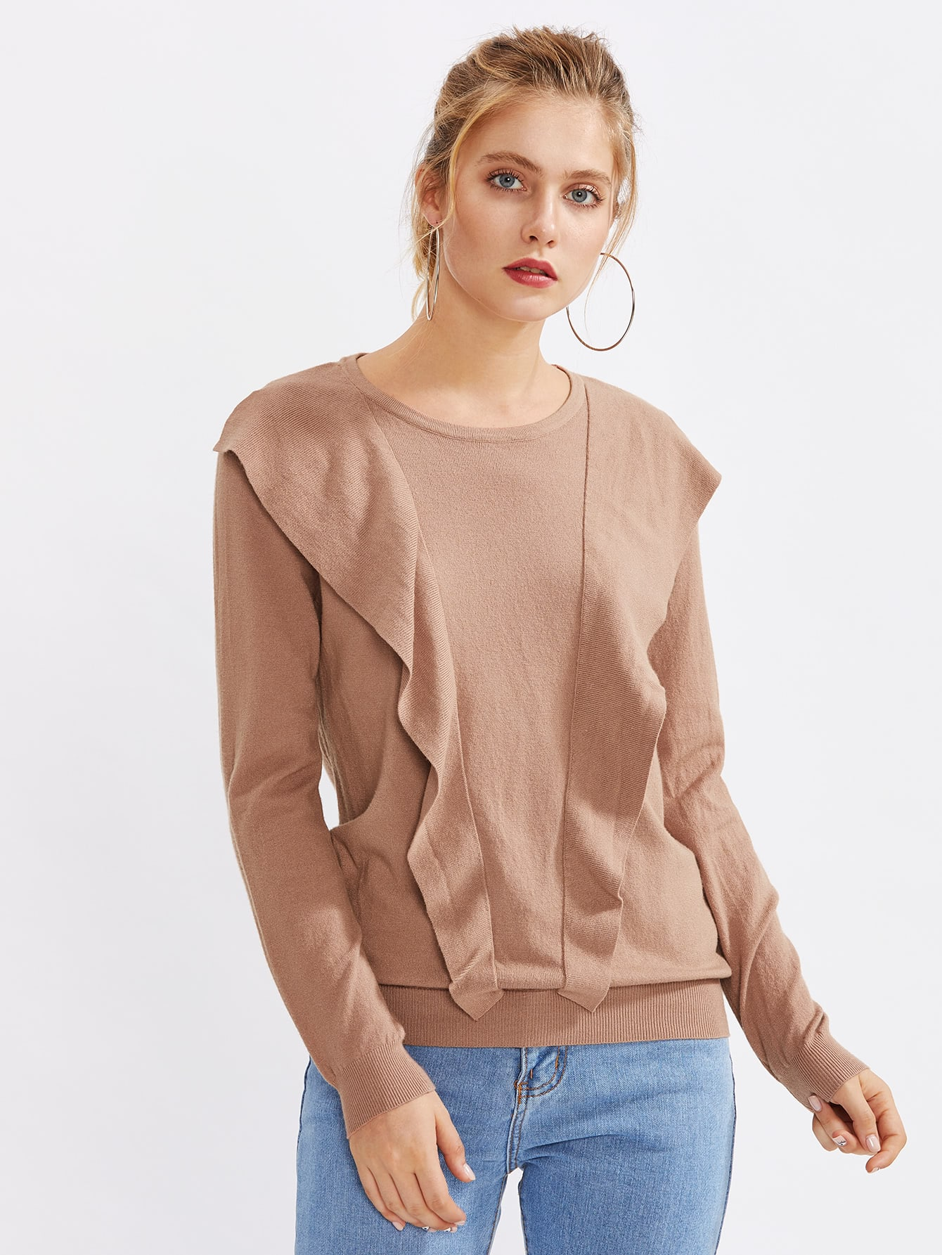 Frill Trim Knitwear sweater170728405