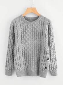 Pull en tricot à câble avec des anneaux