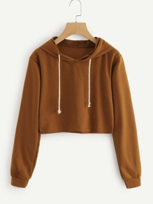 Crop Hooded Sweatshirt