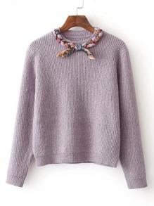 Braided Detail Jumper Sweater