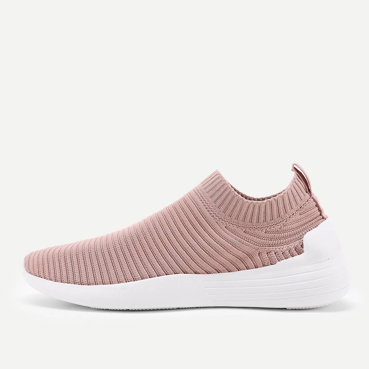 shein Knit Design Low Top Sneakers
