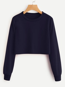 Basic Crop Sweatshirt