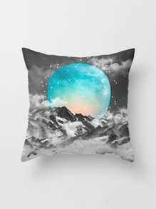 Moon Print Pillowcase Cover