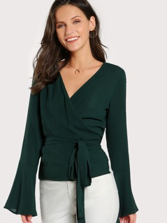Self Tie Wrap Top GREEN