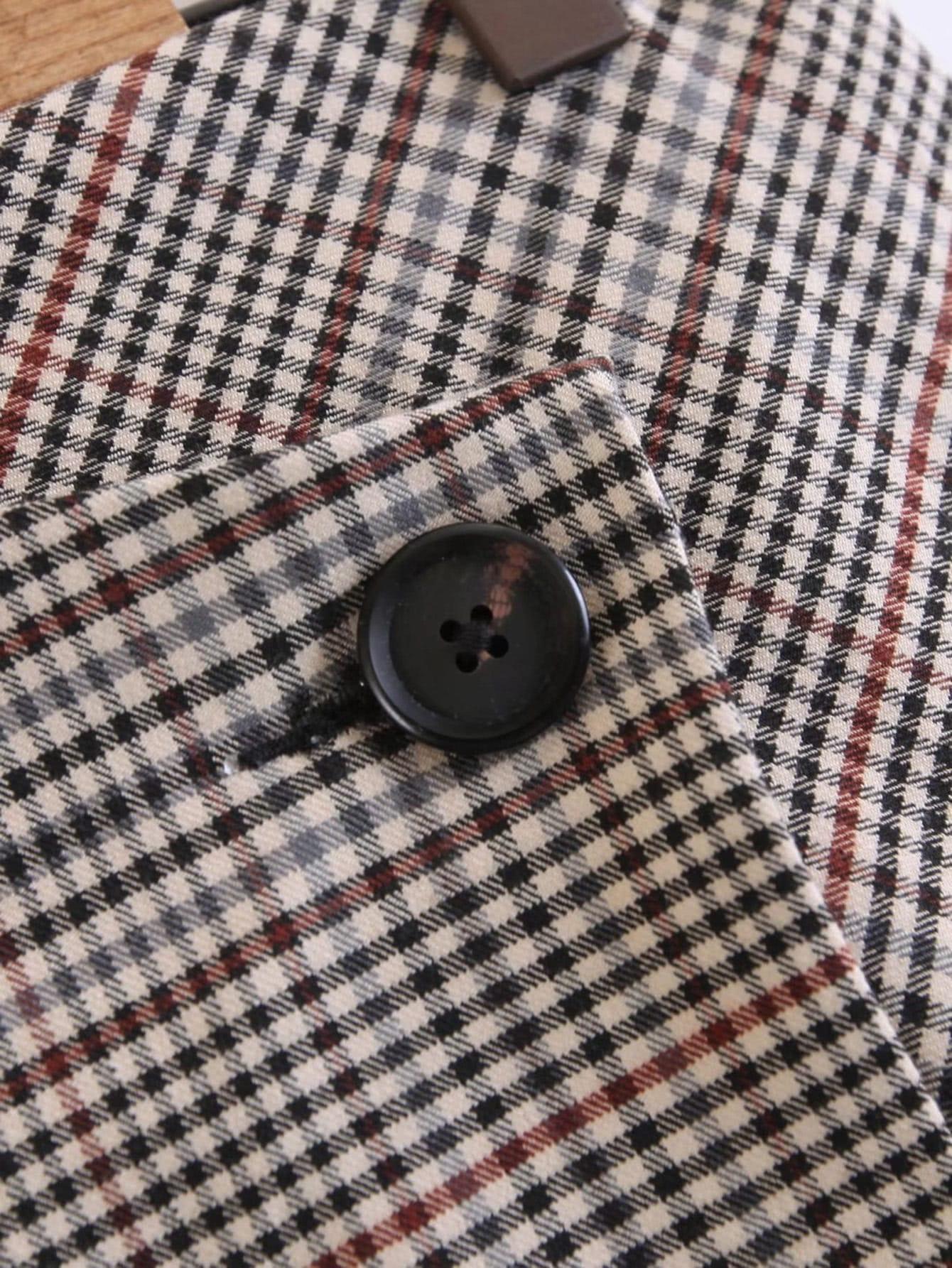 Falda con botones a cuadros spanish romwe - Cuadros con botones ...