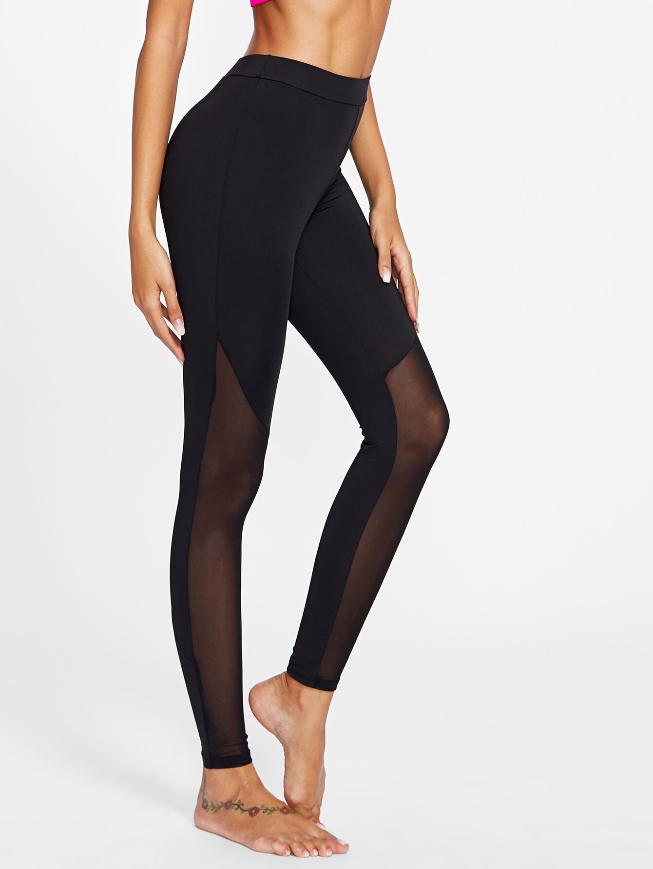 Active Mesh Panel Leggings leggings170915101