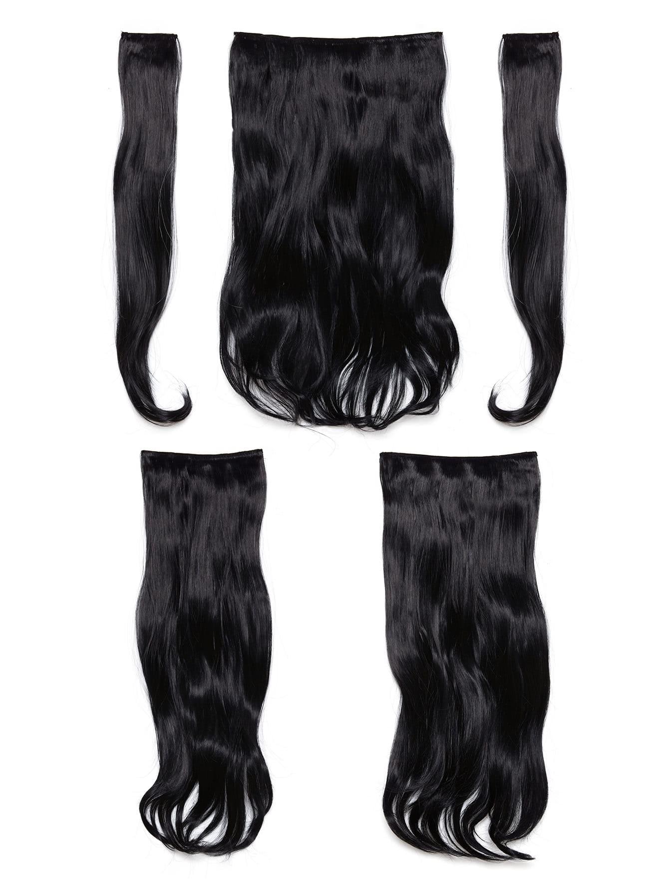 Dark Brown Clip In Soft Wave Hair Extension 5pcs