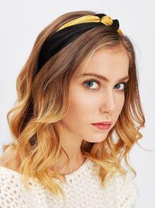 Two Tone Tie Headband