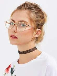 نظارات عدسات مسطحه تفاصيل معدني