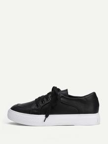 Модные кроссовки на платформе со шнуровкой