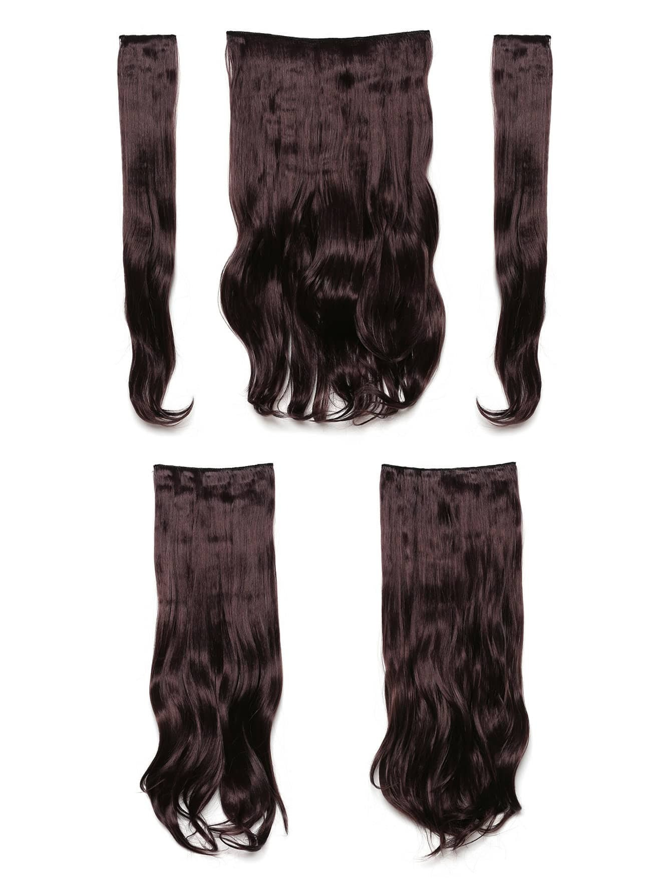 цена на Plum Clip In Soft Wave Hair Extension 5pcs